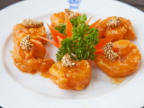 Sauteed Prawns in Mandarin Sauce at Rex Hotel Rooftop Restaurant Photographic Print by Christer Fredriksson