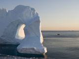 Iceberg from Ilulissat Kangerlua Icefjord with Hole Photographic Print by Holger Leue