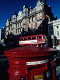 Postbox with Bus in Background Photographic Print by Michael Coyne