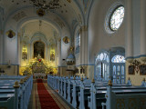 Interior of Blue Church Photographic Print by Manfred Hofer