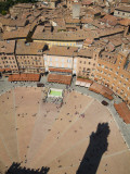 Piazza Del Campo and Shadow of the Tower from Top of Torre Del Mangia Photographic Print by Olivier Cirendini