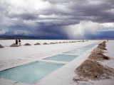 Storm Burst over Salt Pan Salinas Grandes Photographic Print by Damien Simonis