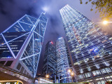 Bank of China Tower (L), Citibank Building (Middle) and ICBC Building (R) Photographic Print by Greg Elms