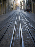Tracks of Elevador Da Bica Funicular Railway Photographic Print by Holger Leue