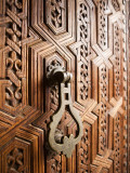 Door Detail, Musee De Marrakesh, Place Ben Youssef Photographic Print by Huw Jones