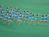 Prosper Motherland Mass Gymnastic Performance Photographic Print by Keren Su