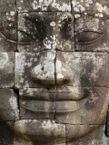 Detail of Face Towers at Bayon Photographic Print by Grant Dixon