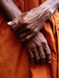 Close Up of Monk&#39;s Hands Photographic Print by Daniel Boag