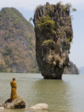 Thai Monk at Ko Phing Kan (James Bond Island) Photographic Print by Holger Leue