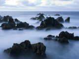 Long Exposure of Waves and Rocks at Dusk Photographic Print by Holger Leue