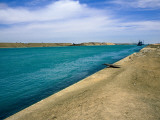 Blue Waters of Suez Canal Photographic Print by Jane Sweeney