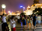 Night on the Bund Promenade Photographic Print by Greg Elms