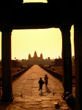 Sunrise at Temple Entrance, Angkor Wat Photographic Print by Ernest Manewal