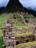 Huayna Picchu from Grounds of Inca Ruins Photographic Print by Jeffrey Becom