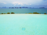 View from Infinity Pool at Six Senses Destination Spa Phuket Photographic Print by Christian Aslund