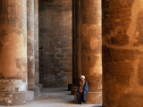 Huge Pillars of the Temple of Khnum in Esna (Isna) Photographic Print by Izzet Keribar