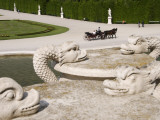 Detail of Gardens at Schonbrunn Photographic Print by Krzysztof Dydynski