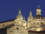 Jesuit Church La Clerecia and University (Universidad) Pontificia Floodlit at Night Photographic Print by David Borland