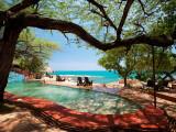Jake's Resort, Treasure Beach Fotografisk trykk av Greg Johnston