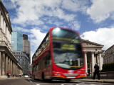 Double-Decker Bus in Threadneedle Street, Centre of the Finacial District Photographic Print by Huw Jones