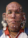 Portrait of Pierced Man Photographic Print by Guylain Doyle