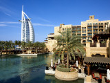 Burj Al Arab and Medinat Hotels Photographic Print by Jean-pierre Lescourret
