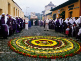 Biblical Re-Enactment, Samana Santa (Holy Week) Celebrations Photographic Print by Jane Sweeney