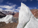 Ice Pinnacles at Terminus of Glaciar Italia, Rio Colorado Headwaters Photographic Print by Grant Dixon