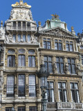 Lamp Post before Ornate Facades of Historic Guildhalls on Grand Place Photographic Print by Craig Pershouse
