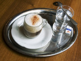 Coffee, Traditionally Served on Oval Metal Tray with a Glass of Water Photographic Print by Krzysztof Dydynski