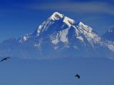 Sunrise on Nanda Devi Peak in Indian Himalayas Fotografisk tryk af Michael Gebicki
