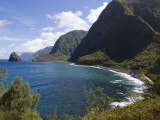 North Molokai Pali in Kalaupapa Peninsula National Historic Park Photographic Print by John Elk III