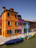 Colorful Houses and Boats on Canal Photographic Print by Dennis Walton