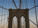Detail of Brooklyn Bridge Photographic Print by Kevin Clogstoun