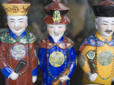 Three Porcelain Qing Dynasty Emperor Figurines at Yu Yuan Bazaaar, Old Shanghai Photographic Print by Greg Elms