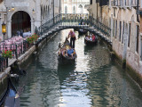 Gondolas in Small Canal Photographic Print by Christopher Groenhout
