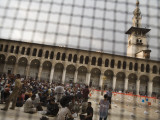 Crowd Waiting for Free Ramadan Iftar Food in Courtyard of Umayyad Mosque Photographic Print by Holger Leue
