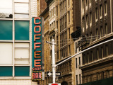 Detail of Coffee Shop Sign and Buildings, Union Square Photographic Print by Michelle Bennett