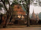 Wat Mahathat Chedi with Buddha Photographic Print by John Elk III