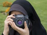 Iranian Girl with Camera Photographic Print by Holger Leue