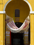 Hammock in Archway of Las Bovedas, Old Dungeons Built in City Walls Photographic Print by Jane Sweeney