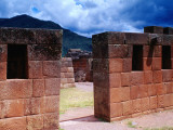 Inca Ruins with Andes Behind Photographic Print by Jeffrey Becom
