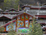 Tibetan Houses Decorated with Murals, Nine Village Valley Photographic Print by Keren Su