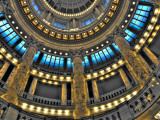 Detail of Interior of Capitol Rotunda Photographic Print by David Ryan