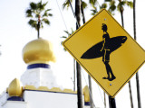 Sign at Swami's Surf Spot, Encinitas Photographic Print by Bruce Esbin