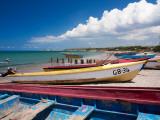 Fishing Boats at Lover's Leap Fotografisk trykk av Greg Johnston