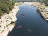 Canoeing at Pont Du Gard Photographic Print by Karl Blackwell