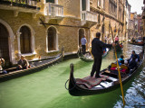 Gondola on Canal in San Marco Photographic Print by Glenn Beanland