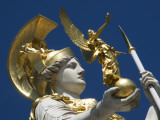 Detail of Athena Fountain at Parliament Building Photographic Print by Krzysztof Dydynski
