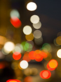 City Lights and Car Headlights at Night. Photographic Print by Greg Elms